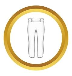 Baseball player pants icon vector image