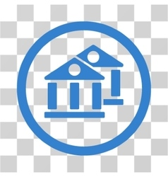 Banks flat rounded icon vector