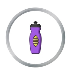 Water bottle icon in cartoon style isolated on vector