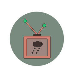 In flat design of tv weather vector