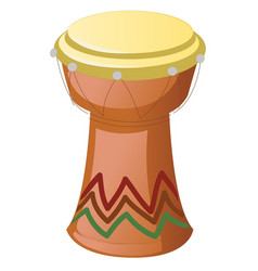 African djembe drum isolated on a white vector