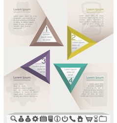Business infographic chart template with set of vector
