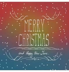 Christmas typography handwriting vector image