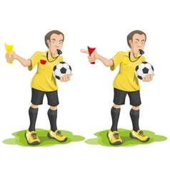 Set soccer referee whistles and shows card vector
