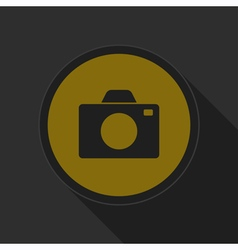 Dark gray and yellow icon - camera vector