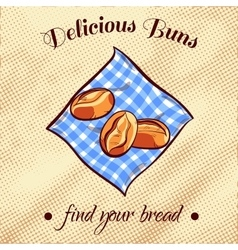 Bread on a napkin 4 vector