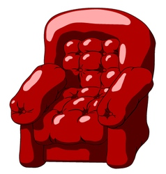 Dark red armchair vector