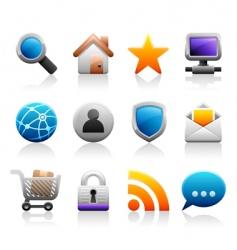 Titanium web icons vector