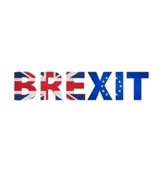 Brexit Text Isolated United Kingdom exit from vector image