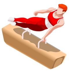 Gymnastics pommel horse 2016 sports 3d vector