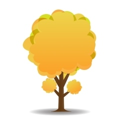 A stylized drawing of a yellow autumn trees vector image vector image