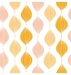 Abstract golden ogee seamless pattern background vector image