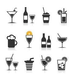 Alcohol an icon vector image