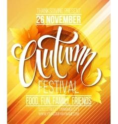 Autumn festival poster template vector