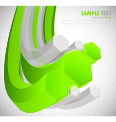 background with 3d hexagon vector image vector image