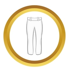 Baseball player pants icon vector