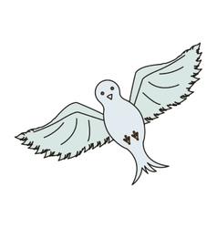 Bird animal icon vector