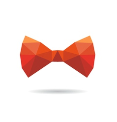 Bow tie abstract isolated on a white backgrounds vector image