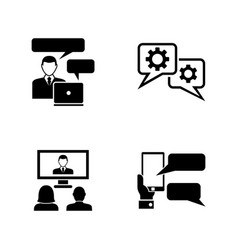 business consulting simple related icons vector image vector image