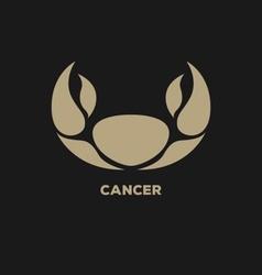 Cancer horoscope icon vector