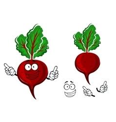 Cartoon fresh red beetroot vegetable vector