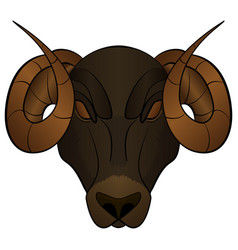 Cartoon head of a ram vector