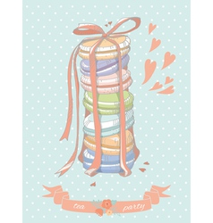 Colorful stack of macaroons vector image vector image