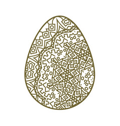 Easter egg tracery vector