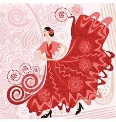 Flamenco pattern vector
