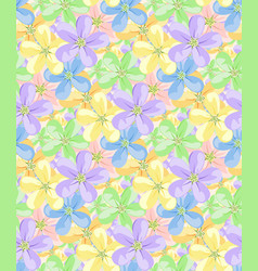 flowers for seamless pattern vector image vector image