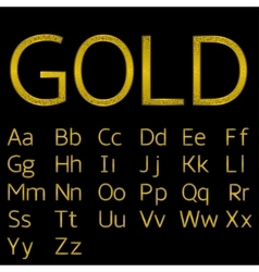 Golden alphabet letters vector