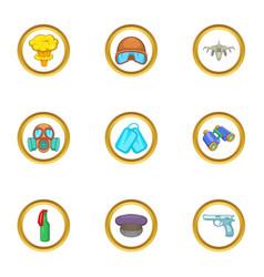 Guns icons set cartoon style vector