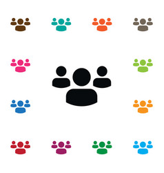 Isolated people icon group element can be vector