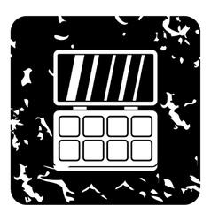 Palette eye shadow icon grunge style vector