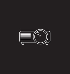 Projector line icon outline logo vector