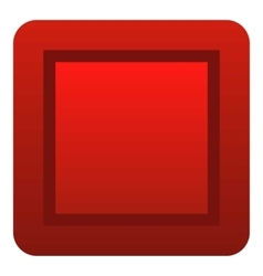 Red button icon flat style vector image