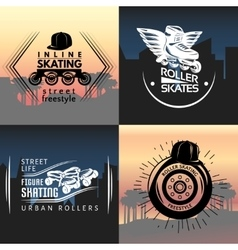 Roller Skating Concept vector image