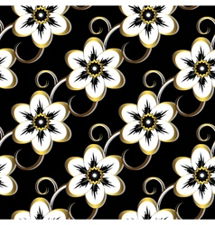 Seamless dark floral pattern vector image vector image