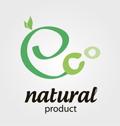 Sign eco vector