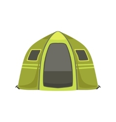 Small green bright color tarpaulin tent vector
