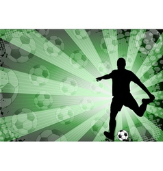 Soccer player on the abstract background vector