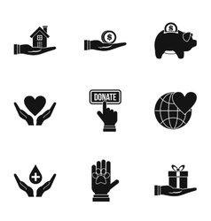 Sponsorship icons set simple style vector