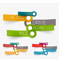Usb flash tag cloud on stickers vector