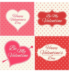 Valentines Day greeting cards set vector image vector image