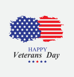veterans day in america vector image