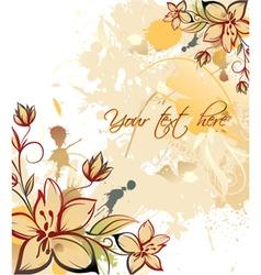 vintage floral background with grunge vector image vector image