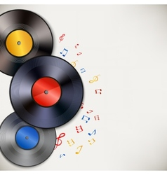 Vinyl record background vector