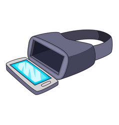 vr glasses for smartphone icon cartoon style vector image vector image