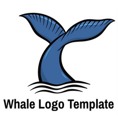 whale tale vector image