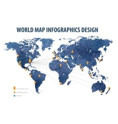 World map infographic business vector